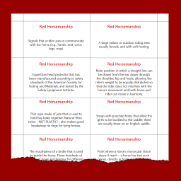 definitions page for Red Horsemanship terminology