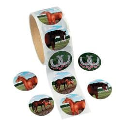 horsey stickers from Oriental Trading Supply