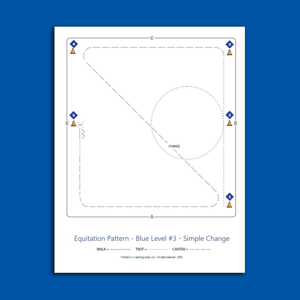 equitation pattern map for Blue Level flatwork