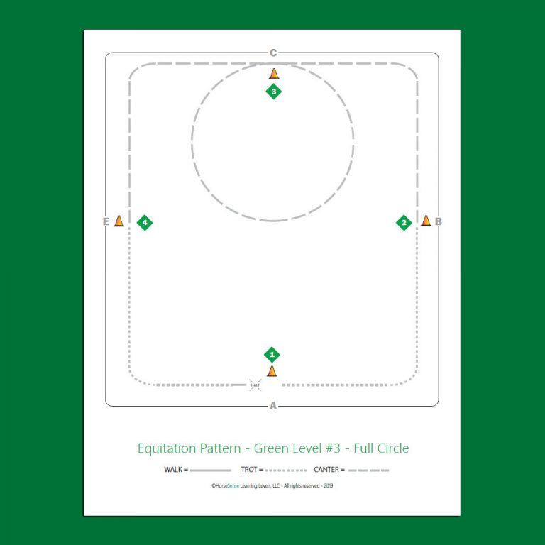 equitation pattern map for Green Level flatwork