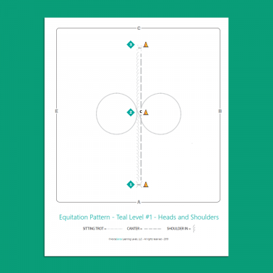sample equitation pattern for Teal Level Horsemanship
