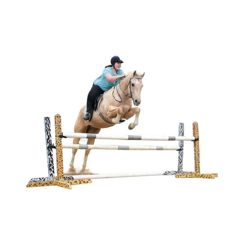 Maura and Biscuit jump Teal Level