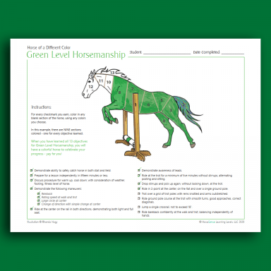 Horse of a Different Color - Green HM - info page