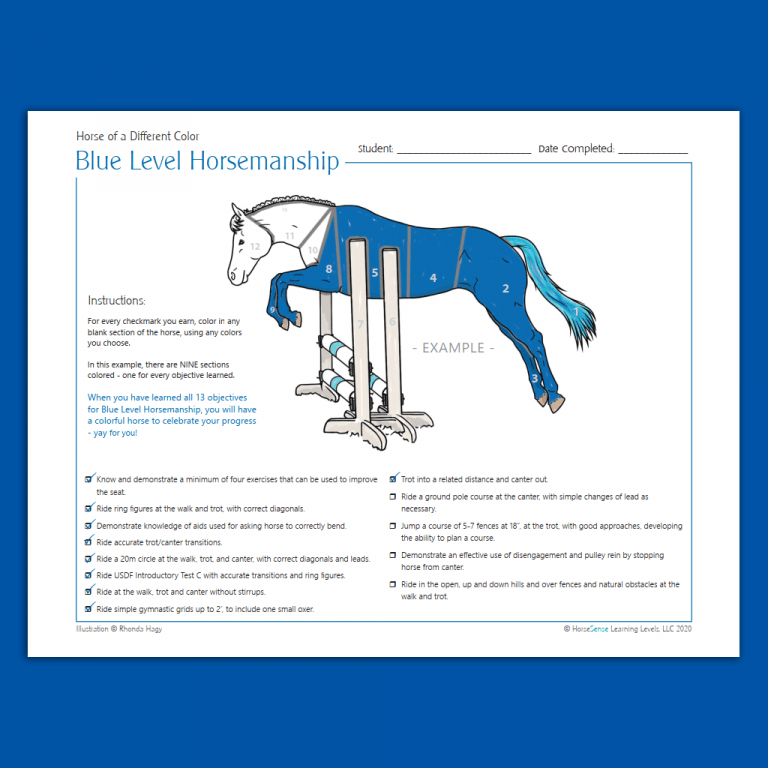example page from Blue HM Horse of a Different Color