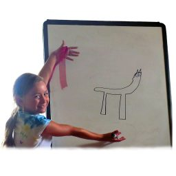 epic drawing of horse by young student playing learning games