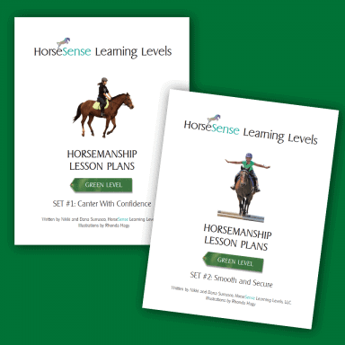 Horsemanship lesson plans Green Level sets 1 and 2 for Learning Levels - cover pages
