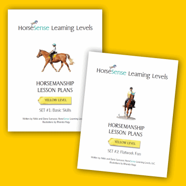 Horsemanship lesson plans Yellow Level sets 1 and 2 for Learning Levels - cover pages