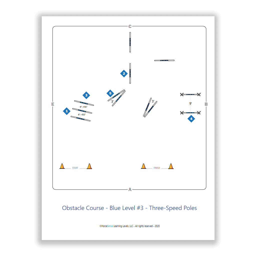 obstacle course - three-speed poles - map page