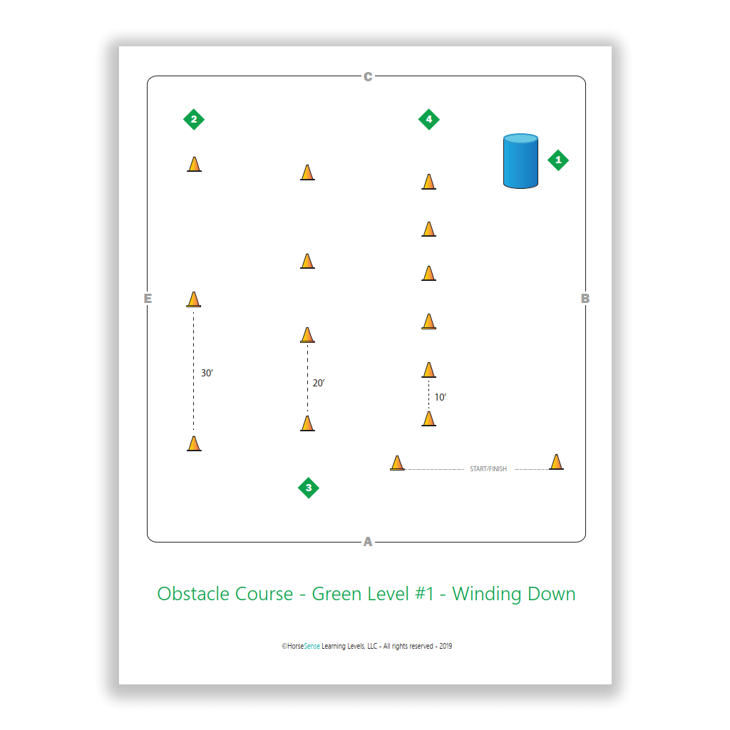 obstacle course - winding down - map page