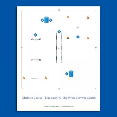 Obstacle Course for Blue Level Horsemanship