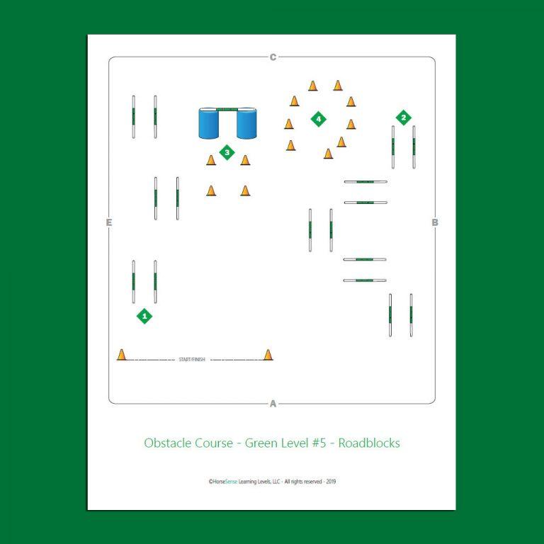 Obtacle Course for Green Level Horsemanship