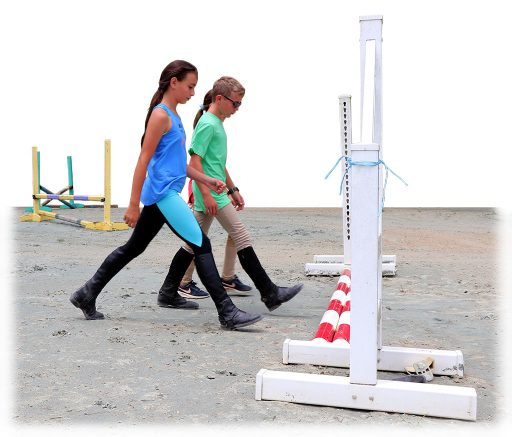 HorseSense students learn related distances with a stadium course walk