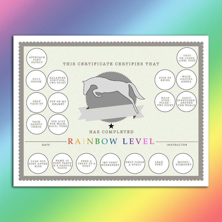 rainbow sticker certificate image