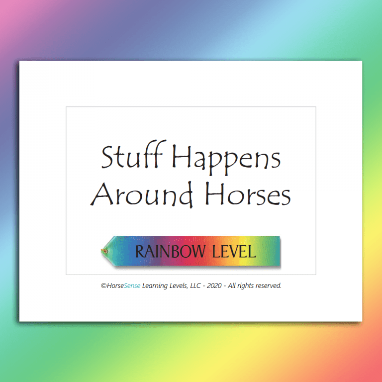 single Rainbow Level Stuff Happens Card back