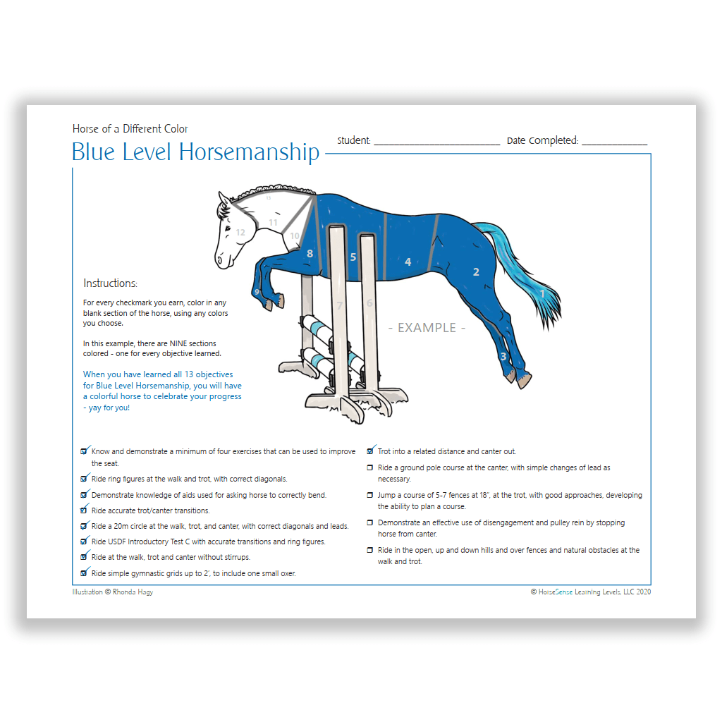 example page for Blue HM Horse of a Different Color