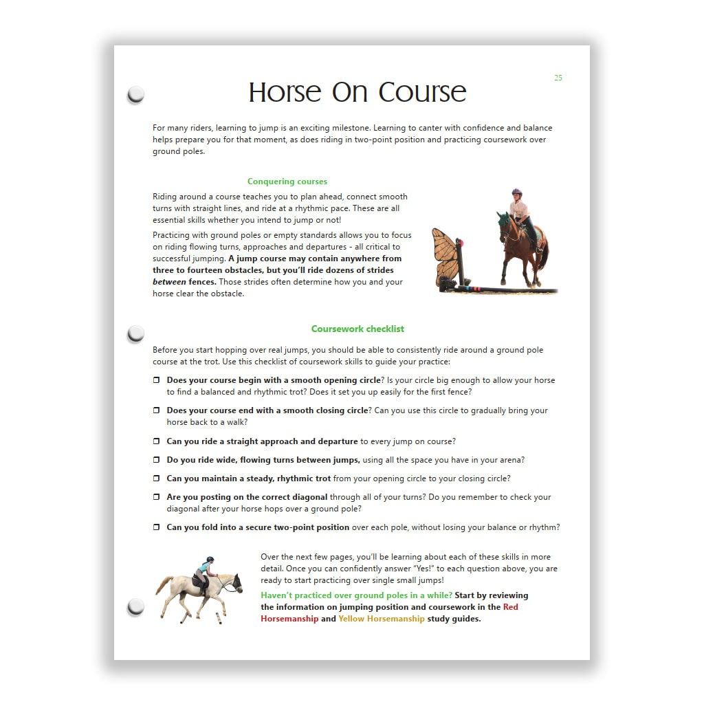 Green HM - Pg 25, Horse On Course