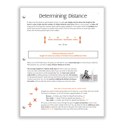 Orange HS Study Guide sample page teaches related distances